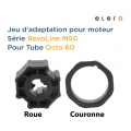 ADAPTATION ROUE ET COURONNE POUR TUBE OCTO  60 IMBAC