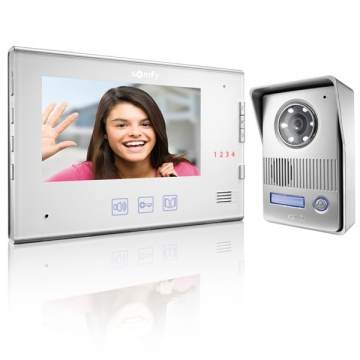 VISIOPHONE V400 BLANC INTERPHONE VIDEO SOMFY