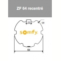 Visuel 2 ROUE + COURONNE ZF 64 RECENTRE (D50) Reference SY9410400 Adaptations Somfy SOMFY