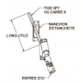 Visuel 3 BLOC GUIDE GENOUILLERE A 60 ° Blanc 315 Ø 12 C6 Reference ZFD512ANG 45°/90° ZURFLUH-FELLER