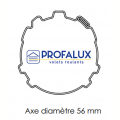 Visuel 5 DVA 3 ELEMENTS POUR AXE DE 56 Reference PXTAC-56DVA3 Attaches rigides - Verrous PROFALUX